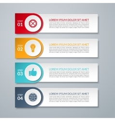 Infographic design number options template vector image vector image