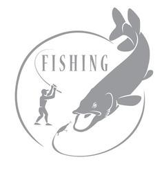 Pike Fishing vector image