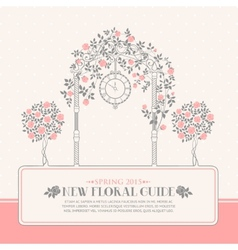 Roses garden vector image vector image