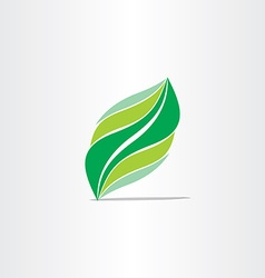 Stylized green leaf design element vector
