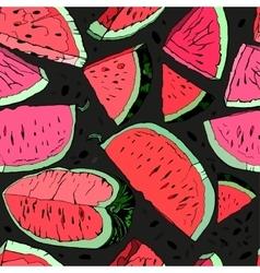 Watermelon hand drawn vector image vector image