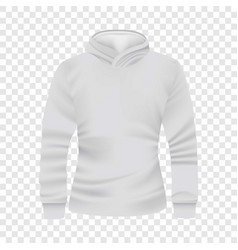 white hoodie front view mockup realistic style vector image vector image