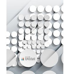 3d paper circles modern design vector image