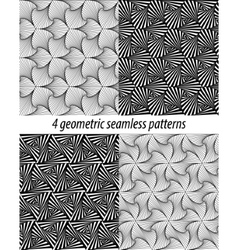 4 Paradox zentangle patterns vector