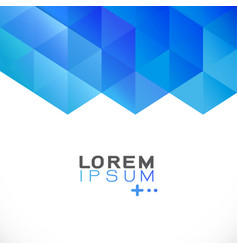 abstract blue gradient geometric template modern vector image