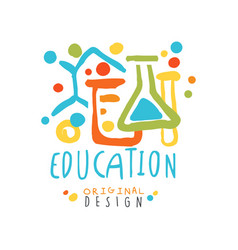 abstract educational label with chemical test vector image