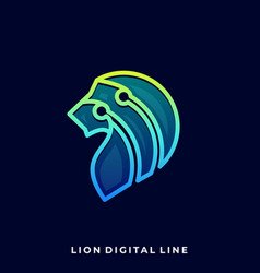Abstract lion template vector