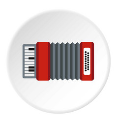 Accordion icon circle vector
