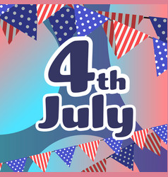 american independence day celebration 4th july vector image