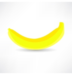 banana icon isolated black on the white background vector image