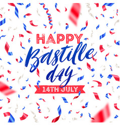 bastille day with confetti vector image