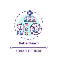Better reach concept icon vector