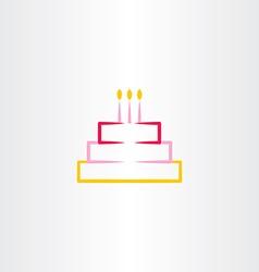 Birthday cake symbol icon design element vector