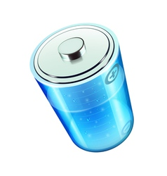 blue battery icon vector image