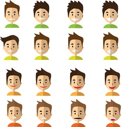 Boy Face Emotion vector