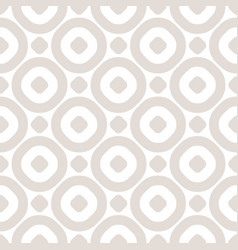 circles seamless pattern abstract beige and white vector image