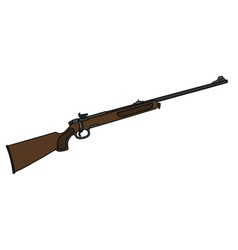 Classic hunting rifle vector