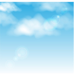 clouds in blue sky background vector image