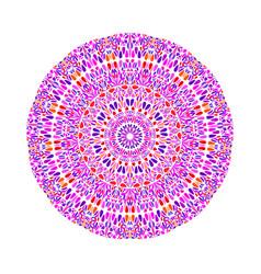 Colorful circular botanical pattern mandala vector