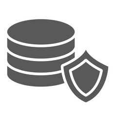 data protection glyph icon privacy and security vector image