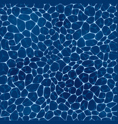 Deep blue sea water pattern vector