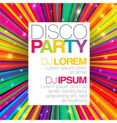 Disco party template vector