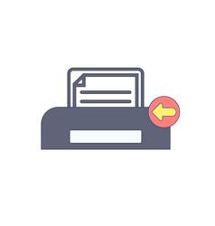 document paper previous print printer icon vector image