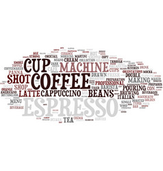 Espresso word cloud concept vector