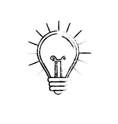 Figure light bulb idea to creative invention vector