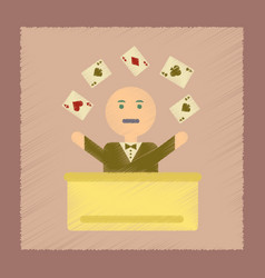 flat shading style icon a poker man player vector image