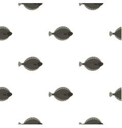Flounder fish pattern seamless vector