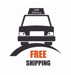 Free shipping car front view icon vector