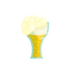 Glass beer icon in cartoon style vector