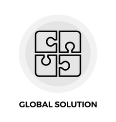 Global Solution Line Icon vector