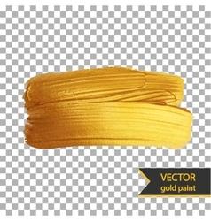 Gold shiny metallic brush stroke Golden design vector