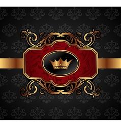 gold vintage vector image