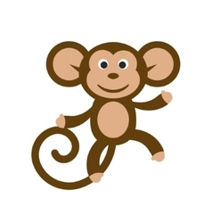 Happy cartoon monkey vector