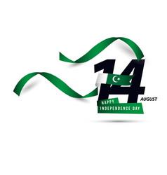 Happy pakistan independent day template design vector