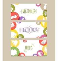 Healty food banners representing vector