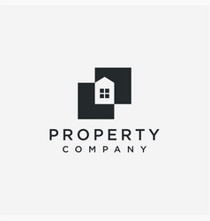 house property logo icon template vector image
