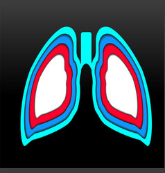Human lungs with overlap medical concept logo vector