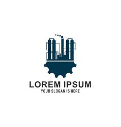 industry factory logo vector image