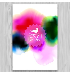 Ink blots invitation vector