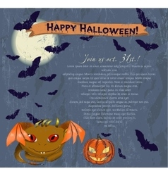 Invitation halloween poster vector