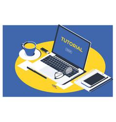 Isometric design online video vector