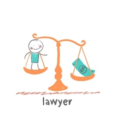 lawyer vector image