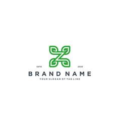 Leaf letter z logo design vector