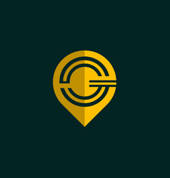 letter g point location creative modern logo vector image
