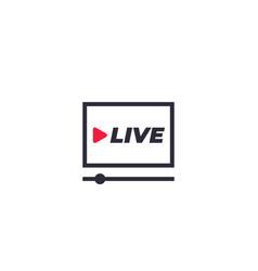 live stream player icon vector image