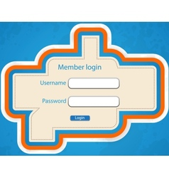 Login page vector image